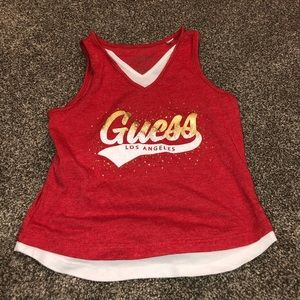Size 4 girl's Guess tank-top.